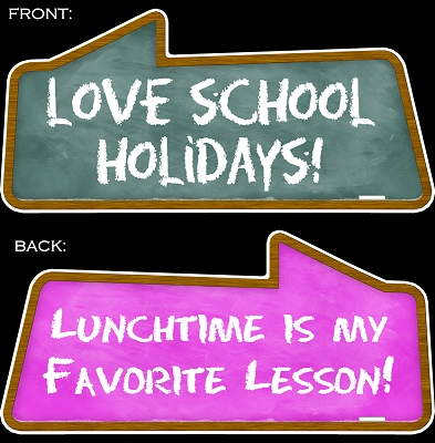 Love School Holidays! & Lunchtime Is My Favorite Lesson!