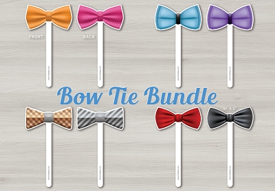 Bow Ties on a Stick - 4pcs